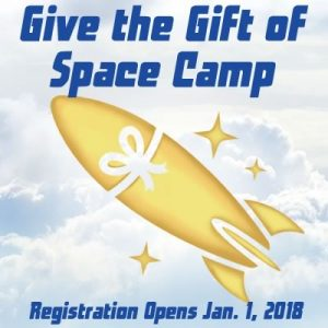 Image: Give the Gift of Space Camp - Registration Opens Jan 1, 2018